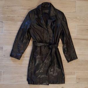 Express Jackets & Coats - Express Large Leather Thinsulate Lined Belt Jacket